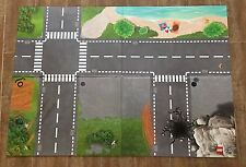 """LEGO City police Playmat 850929 double Sided Mat 39x27"""" hard layout roads"""
