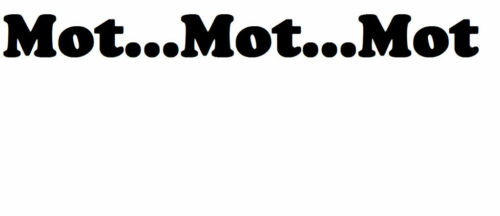 MOT ...MOT..MOT  KIETH LEMONS NEW PHRASE CAR STICKER