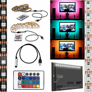 5V-5050-RGB-LED-Strip-Light-Bar-TV-Background-Lighting-Kit-USB-Remote-Control