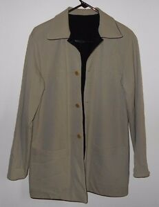 Vintage Reversible Wool Jacket Black And Tan Austin Reed Made In Usa Worsted Ebay