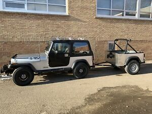 89 Jeep YJ, bumper pull and trailer! Rebuilt classic