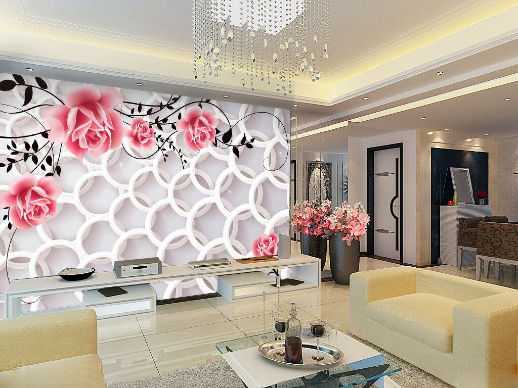 3D Pink Flower Art 87 Wallpaper Mural Wall Print Wall Wallpaper Murals US Carly