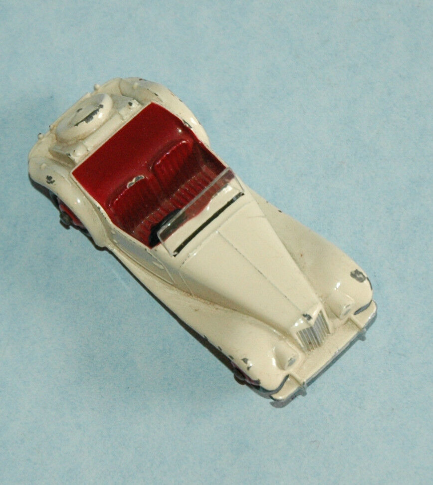DINKY Meccano original 1954 MG MIDGET TF  129 Export Version US market Weiß
