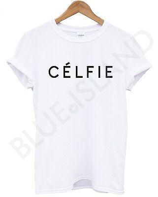 CELFIE T SHIRT WHITE  VOGUE TOP UNISEX WOMEN MEN SWAG DOPE HIPSTER ALONE