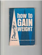 Bob Hoffman Bodybuilding Muscle Booklet 1967 How To Gain Weight