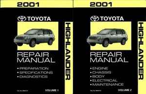 2001 toyota highlander shop service repair manual book engine rh ebay com 2001 toyota highlander repair manual pdf Toyota Highlander Accessories