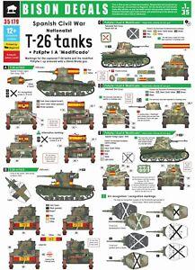 Bison-Decals-1-35-Sp-Civ-War-4-Nationalist-T-26-and-Pz-I-Modificado-35179