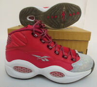 Question Mid Girls Shoes Size 7.5 Allen Iverson Pink M48825 Reebok Classic