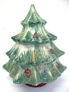 Albero Di Natale Usato.Vintage Usato Ceramica Biscottiera Albero Di Natale Dipinta Decorativi Vacanza Ebay