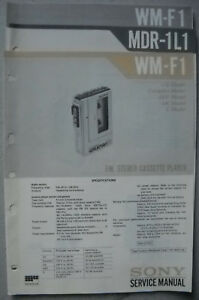 SONY-WM-F1-und-MDR-1L1-Service-Manual-inkl-Supplement-1