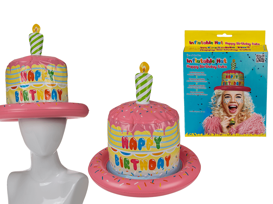 Astounding Inflatable Happy Birthday Cake Hat Funny Joke Party Gift 18Th Personalised Birthday Cards Veneteletsinfo