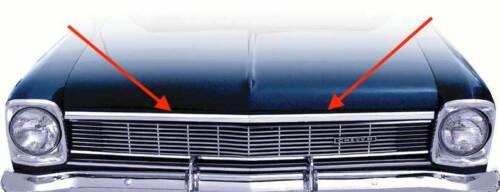 Nova Front Edge Hood Lip Molding 1966 Chevy II