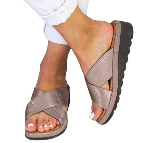 Women/'s Slippers Women Comfy Platform Sandals Shoes PU Bunion Corrector JOC