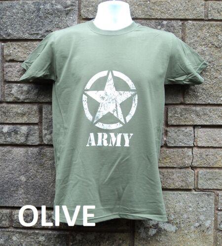 Green US Army MASH Style T shirt Retro Vietnam Military T shirt Khaki