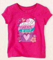 sweet Lil' Sister Little Baby Girls Shirt 6-9 12 18 24 Months 2t 3t 4t