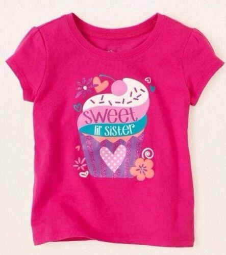"~NEW~ /""Sweet Lil/' Sister/"" Little Baby Girls Shirt 6-9 12 18 24 Months 2T 3T 4T"