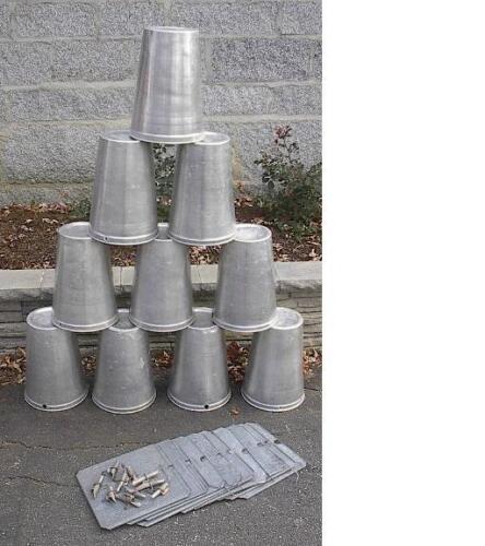 15 Lids Covers 15 Taps Spouts Spiles 15 MAPLE SYRUP Aluminium Sap BUCKETS