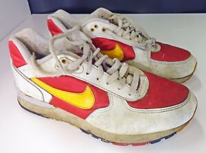 best service 7b6d6 4d7d4 Image is loading Vintage-Nike-Air-Pegasus-1994-Sneakers-Red-Yellow-