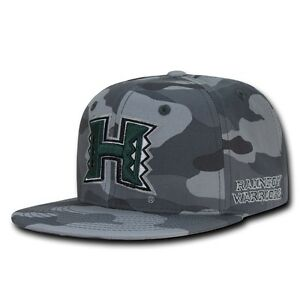 Image is loading NCAA-Hawaii-University -Rainbow-Warriors-Camouflage-Snapback-Baseball- 980631f07dd