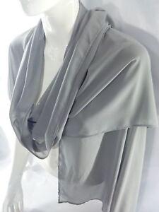 Foulard-donna-Stola-sciarpa-brand-italiano-TOSCA-grande-grigio-194x66-cm