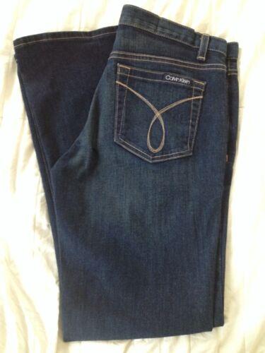 Mid 31 Dames Denim Donkerblauw Calvin X Stretch Klein rise Jeans 8 Leg Flare wapHaEq