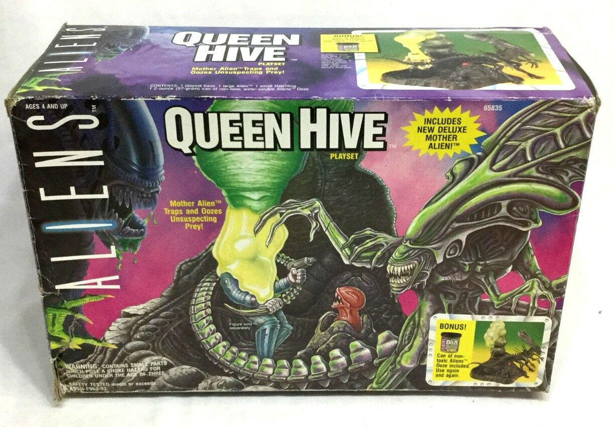 1994 Kenner Aliens Movie Queen Hive Playset Slime Sealed Large Figure Set Boxed