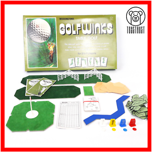 Golf-Winks-Vintage-Board-Game-Table-Golf-Retro-Family-Fun-GolfWinks-Waddingtons