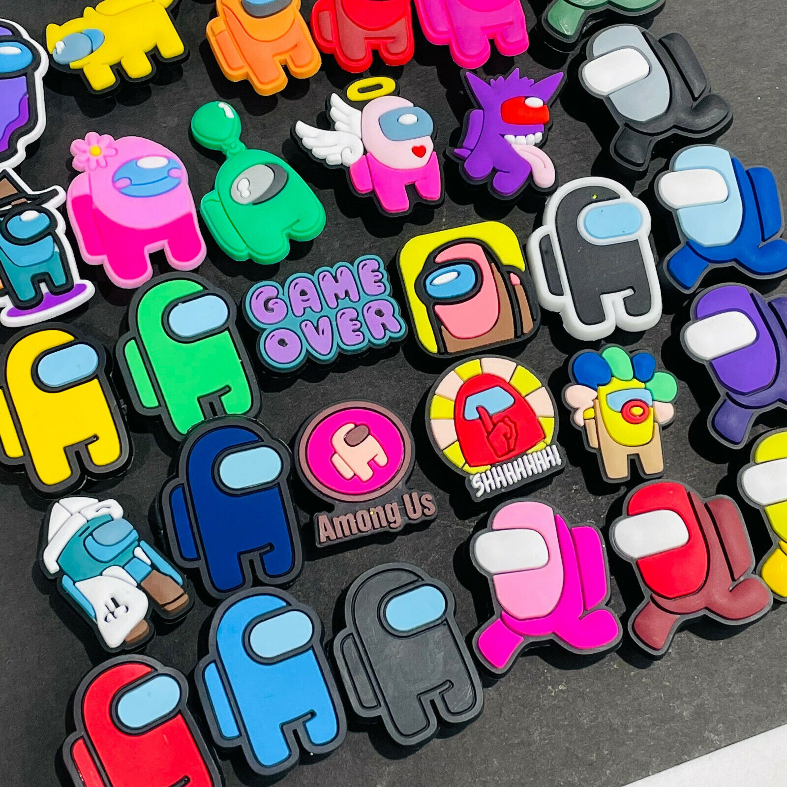 Kids Shoe Charms For Croc Clog Cartoon Robot Game Shoes Accessories