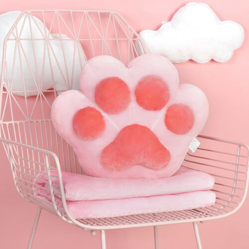 Home Sofa Paw Shape Cushion Blanket Pillow Chair Car Rest Sleeping Cushion Cover
