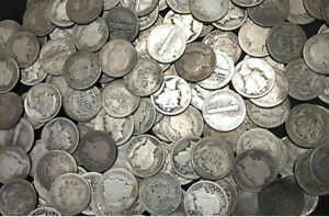 Old-U-S-SILVER-Estate-Coin-Lots-Mercury-Dime-Barber-Dime-Antique-Vintage