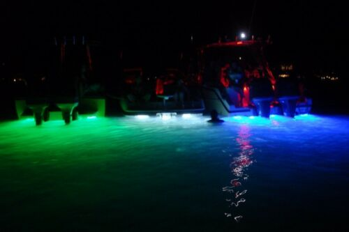 Blue 5150 TRANSOM MOUNTED UP TO  8000 LUMENS UNDERWATER LED LIGHT OCEAN LIGHT