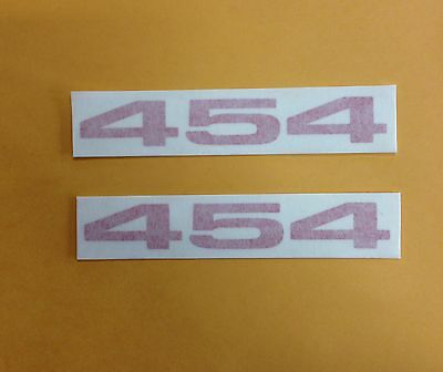 454 set of 2 decals tailgate hood fender dash under hood sticker logo
