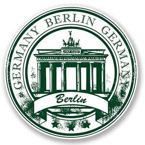 2 x Berlin Germany Vinyl Sticker Laptop Travel Luggage #4522