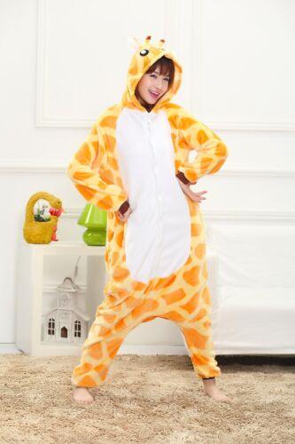 giraffe Unisex Adult Pajamas Kigurumi Halloween Cosplay Costume Animal Sleepwear