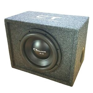 "CT Sounds Single Bio 10"" In Subwoofer Bass Package with Factory Tuned Ported Box"