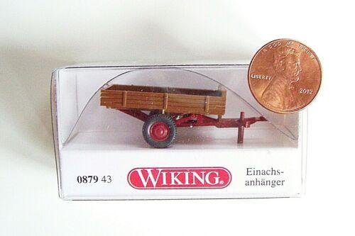 HO scale Wiking 87943  Allgaler Brown Single-Axle TRAILER 1//87 Model