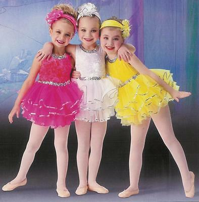 Clearance Bon Bon Ballet Dance Dress Costume White Child Extra Small 2-3 Yr. Old