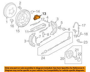 Drum Brake Wheel Cylinder Rear BECK//ARNLEY 072-9893 fits 11-12 VW Jetta