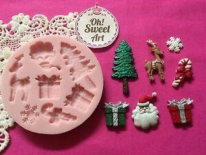 FDA Christmas Tree accessories Silicone  Mold Food cake Decoration Cupcake