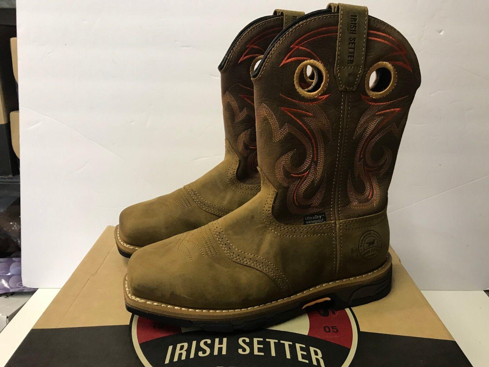 Irish Setter New Women's 8.5 83222 Marshall Waterproof Steel Toe 9  Boot