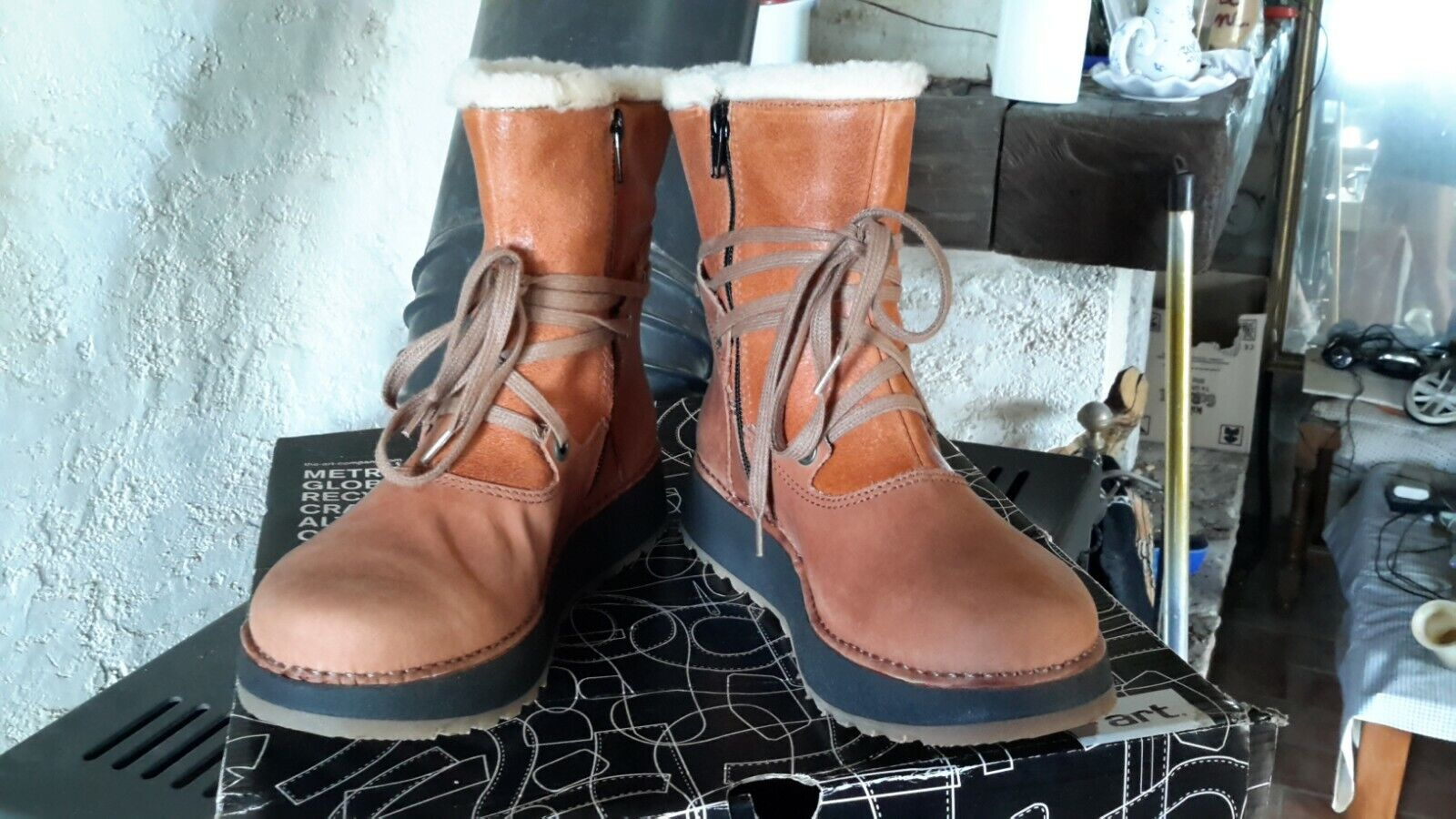 1024, heathrow art snow boots women, brown (cuero), 36 eu