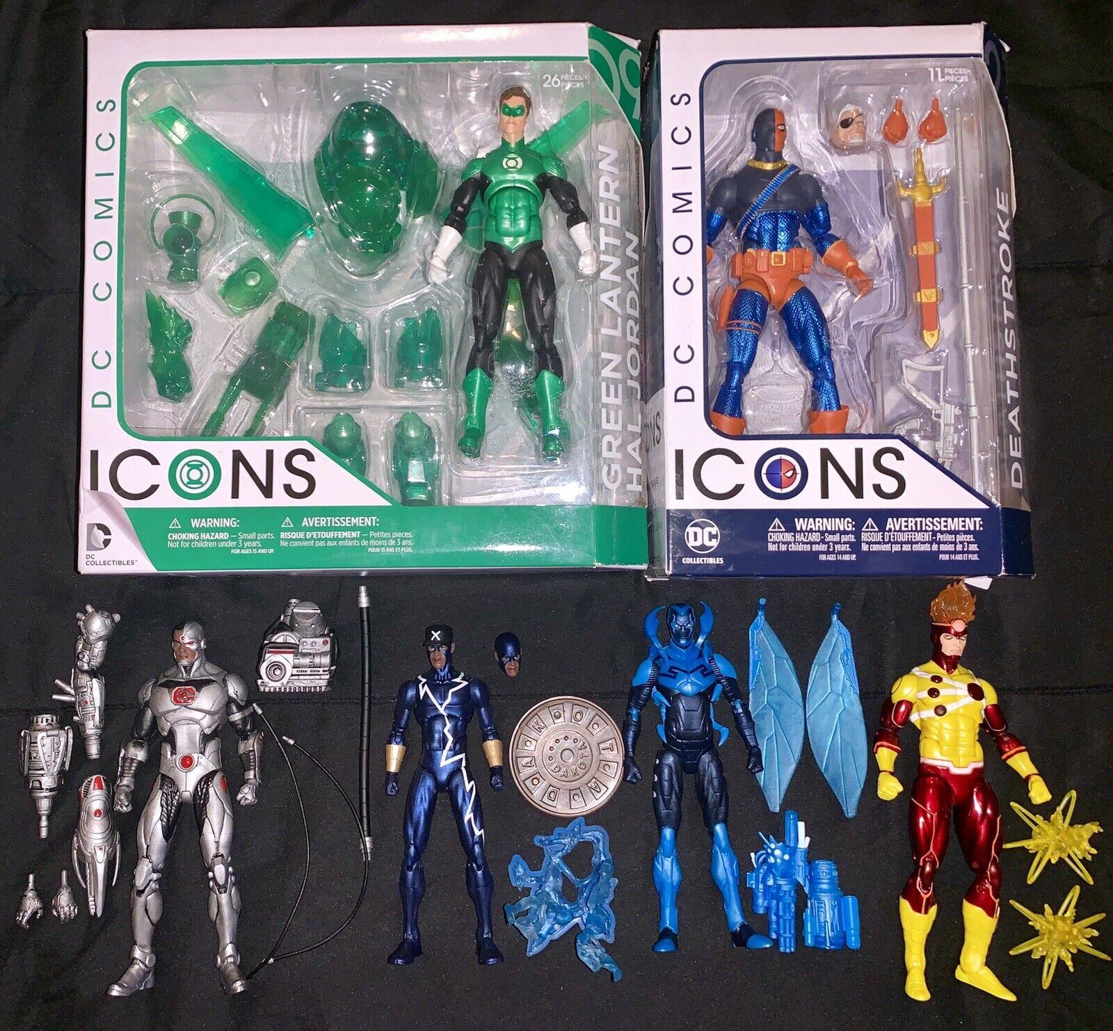 DC icone azione cifra LOTTO Deathstroke Lanterna verde statico blu BEETLE Cyborg