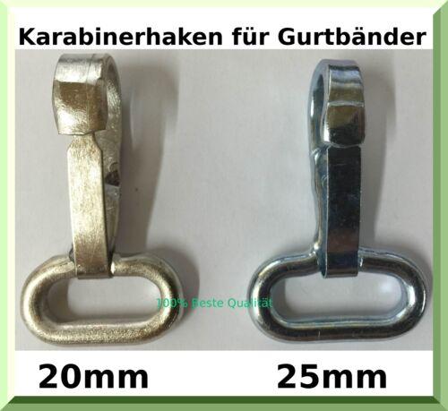 Mosquetones para cintas cinturón vigas cinturón 20,25mm remolque plane accesorios verzink