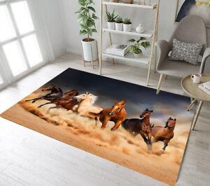 Five Running Horse Design Area Rugs Kids Bedroom Carpet Living Room Floor Mat Ebay