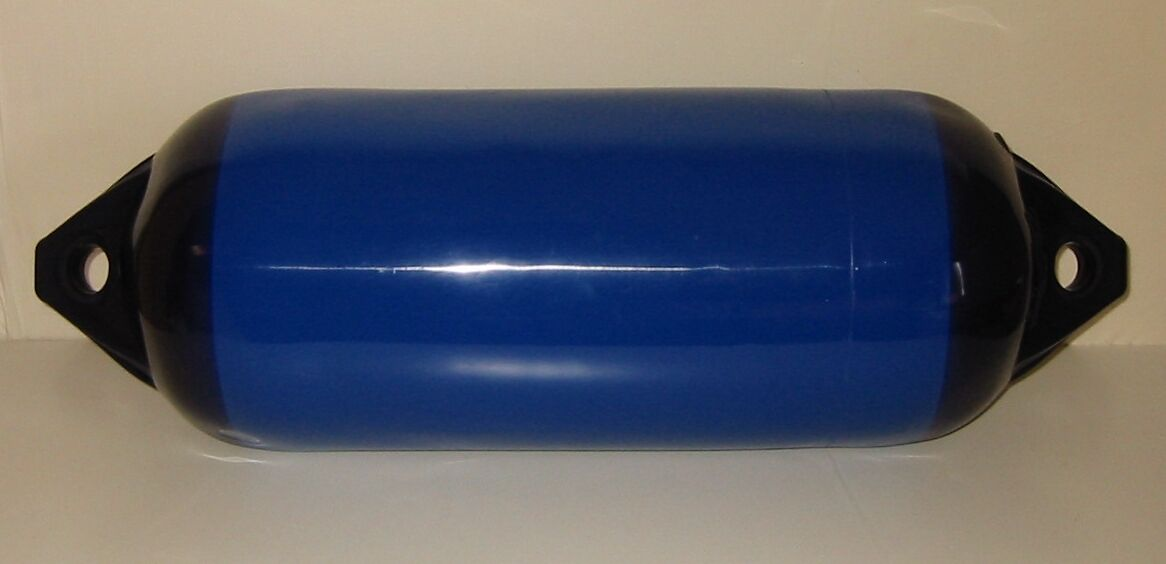 Polyform Langfender , Fender , F F , 5 B ,blau m. blauen Kappen , 76 x 28 cm , NEU 670118