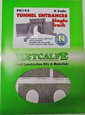 Metcalfe PN143 Single Track Tunnel Entrances  - New - (N Gauge) Card Kit.