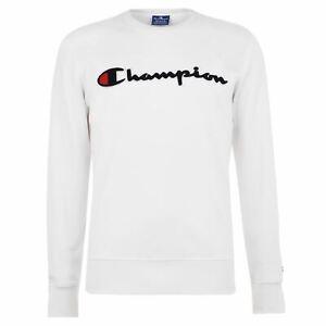 CHAMPION-Felpa-Morbida-logo-sul-petto-uomo-Gents-Crew-Pullover-T-Shirt-Tee-Top