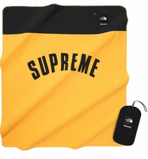 New Supreme® The North Face® Arc Logo Logo Logo Fleece Blanket Gelb SS19 733e17