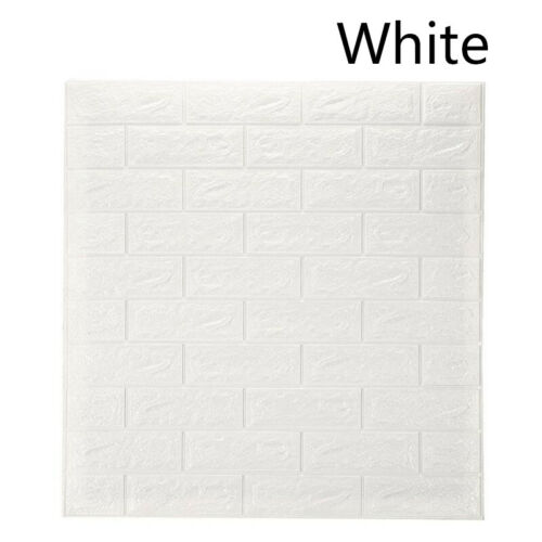 Foam 3D Tile Brick Wall Sticker Self-Adhesive DIY Wallpaper Panels Home Decals