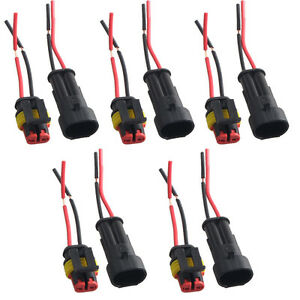 5-X-2-Pin-Car-Motor-Waterproof-Electrical-Connector-Plug-Socket-Wire-Cable-Sales